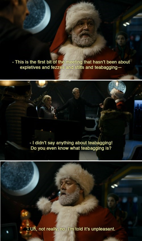 christmas special,teabagging,doctor who,santa claus