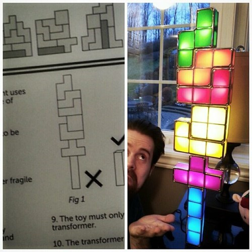 lamp,instructions,light,tetris