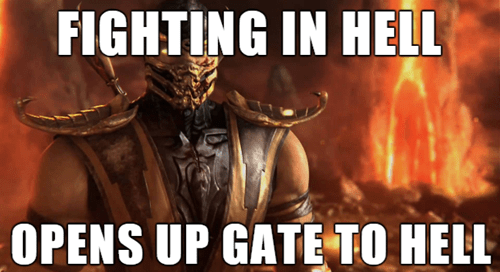 video game logic,Mortal Kombat,scorpion