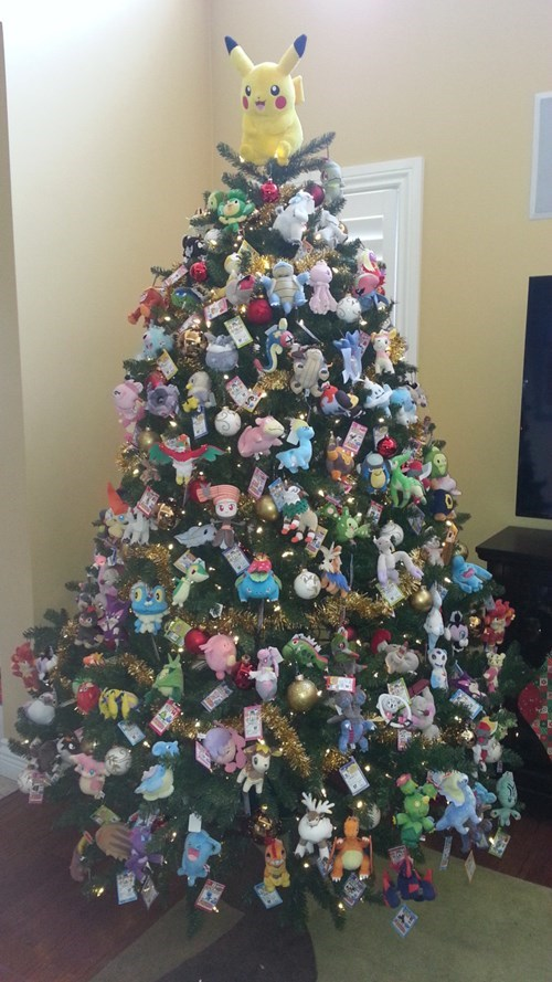 christmas,Pokémon,christmas tree