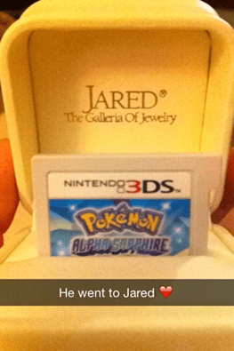 rings,Pokémon,engagement,he went to jared