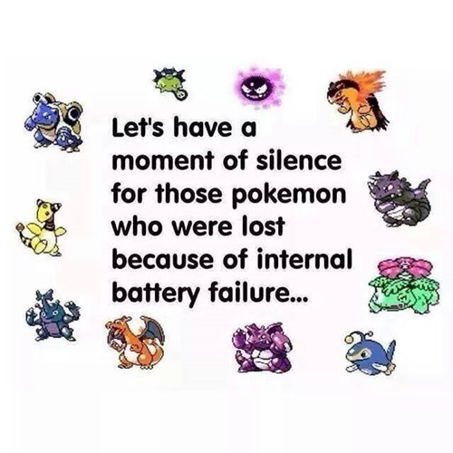 Sad battery failure Pokémon old school - 8411798784