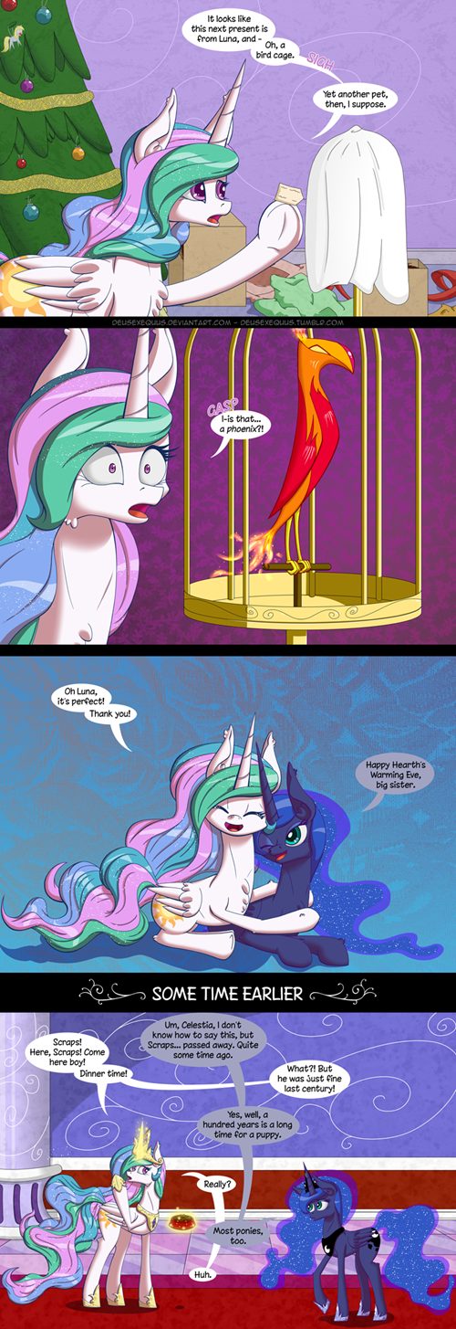 princess luna,princess celestia,phoenix,immortal