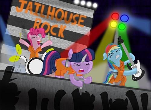 rock n roll rainbow rocks jailhouse MLP - 8411810304