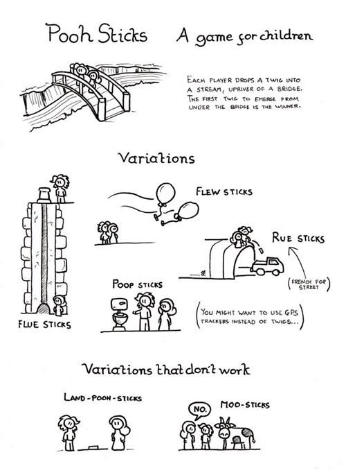 puns pooh sticks web comics sticks - 8411813632