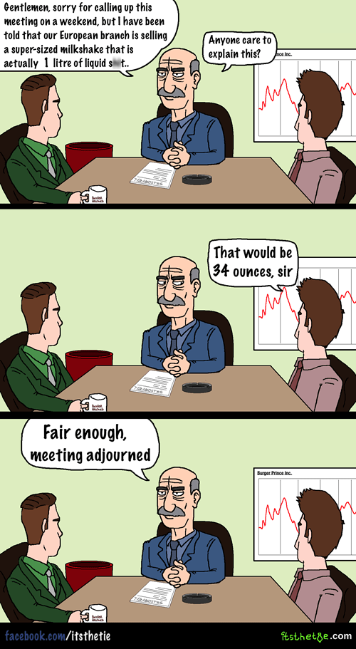 meeting in this economy sad but true fast food web comics - 8411815424