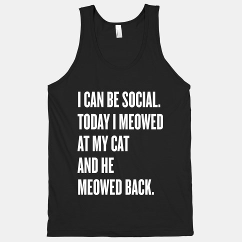 poorly dressed meow tank top social Cats g rated - 8411818752