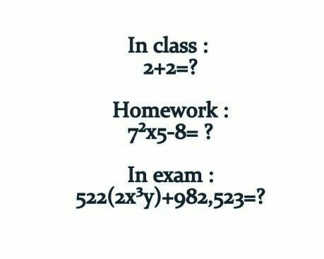 finals class exams funny math - 8411918336