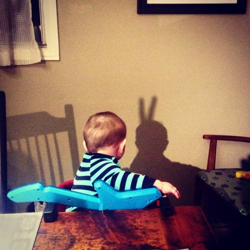 baby,bunny ears,parenting,shadow