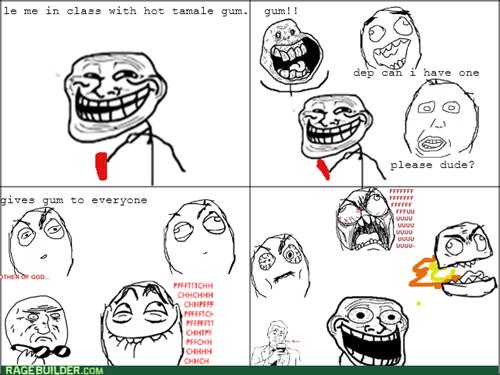 gum,sharing,trolling