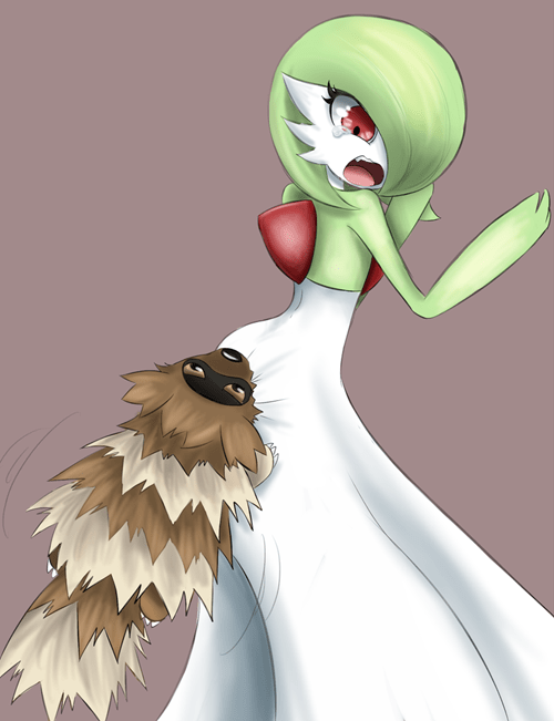 Fan Art zigzagoon gardevoir