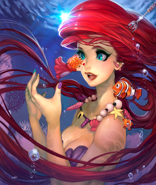 disney Fan Art The Little Mermaid - 8412173312