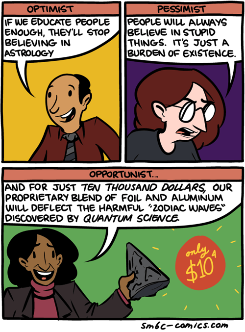 pessimist astrology sad but true optimists science web comics