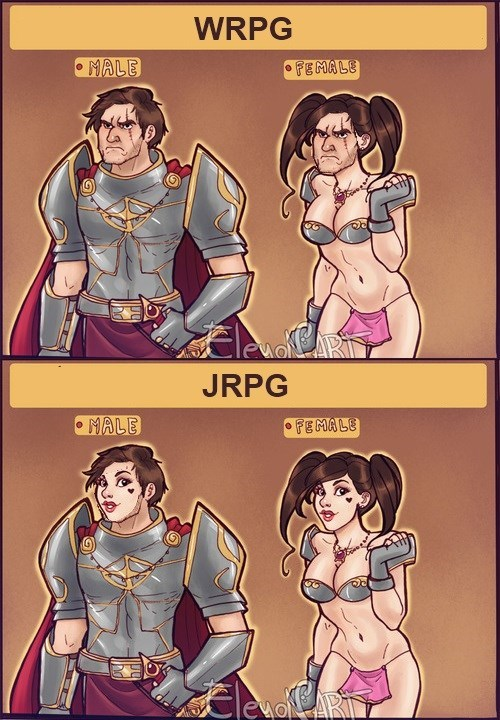 jrpg Sexy Ladies manly funny accurate
