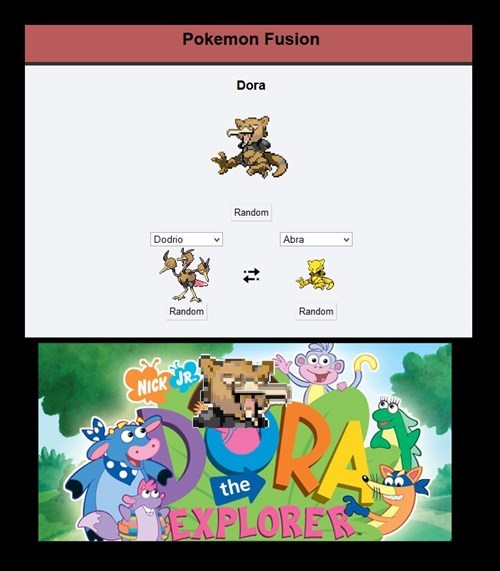 crossover,pokémon fusion,dora the explorer