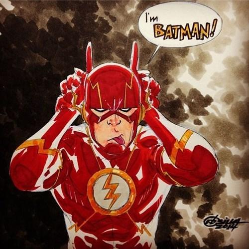 DC Fan Art batman the flash - 8413221120