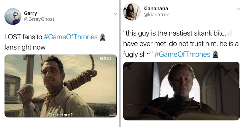 Funny game of thrones twitter reactions, game of thrones finale, james franco.