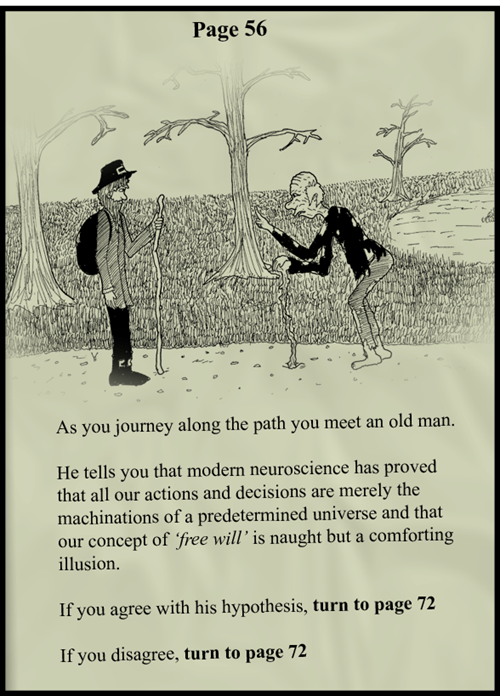 old man determined neuroscience funny choose your own adventure - 8413456128