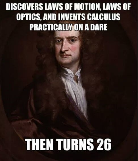 physics isaac newton science young