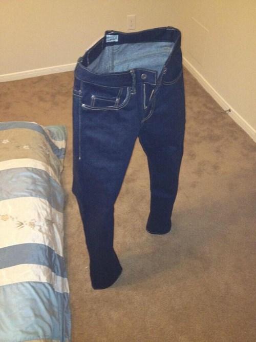 jeans poorly dressed pants stiff