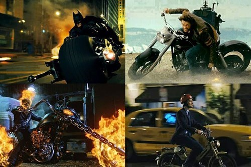 peter parker nerds motorcycle - 8413784576