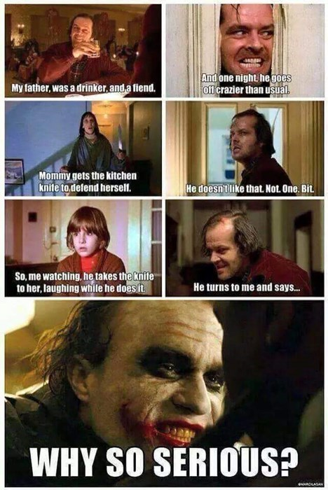 the joker,batman,the shining