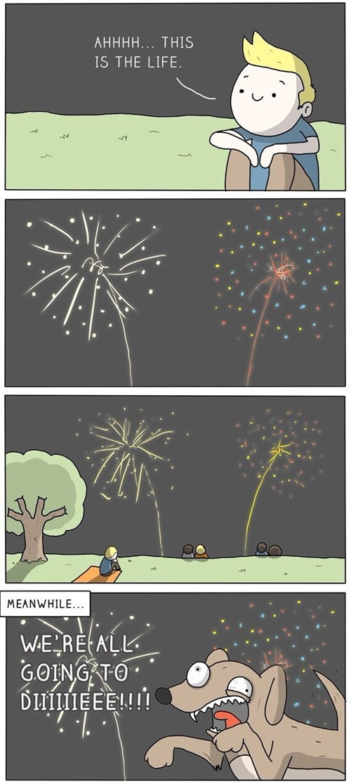 dogs,fireworks,reactions,web comics