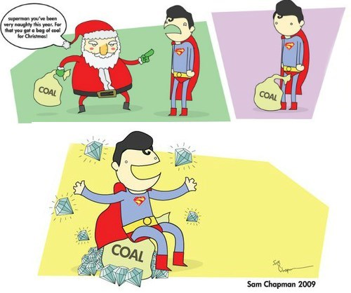 christmas naughty coal superman - 8413817600