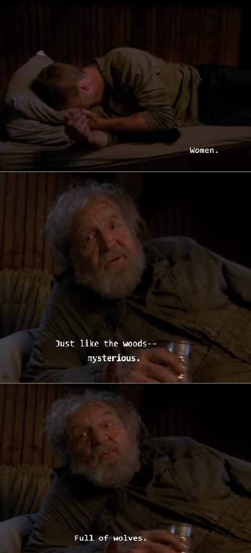Old Pete knows women are full of wolves