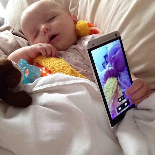 baby parenting selfie sleeping - 8413874688