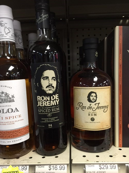 Ron Jeremy has his own rum