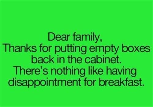 disappointment kids parenting kitchen