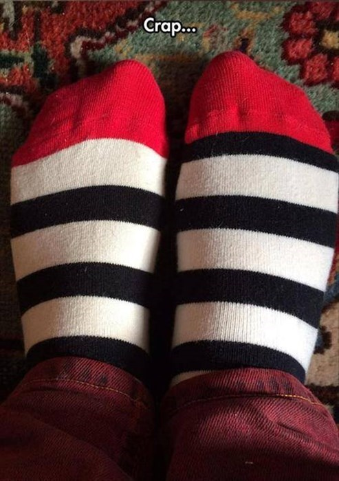 poorly dressed,socks,stripes,g rated