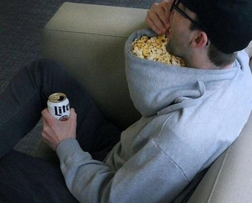 hoodie Popcorn food g rated win - 8414090752
