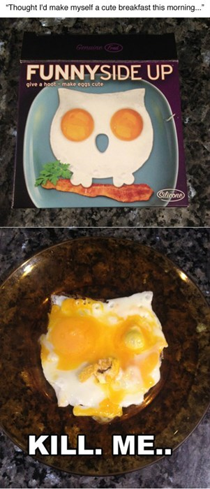 egg fail that looks like the spawn of the devil