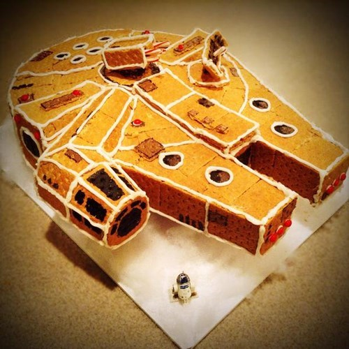 star wars,gingerbread,millennium falcon