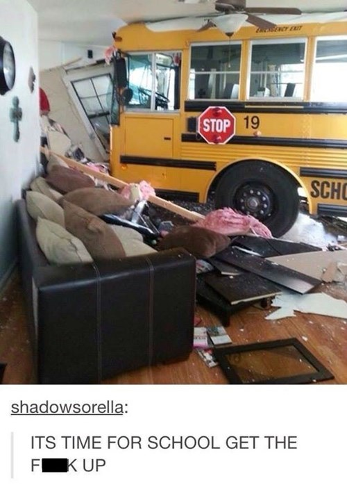 wtf accident school bus funny g rated School of FAIL - 8414124800