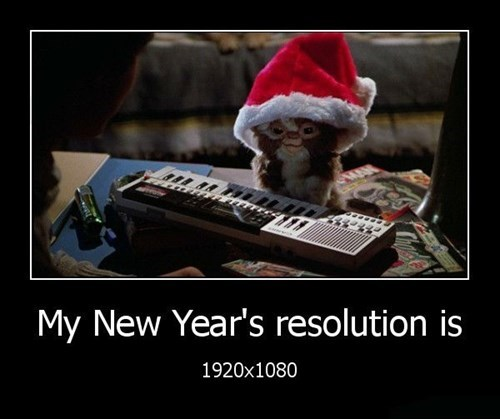 gremlins new year resolution funny - 8414137344