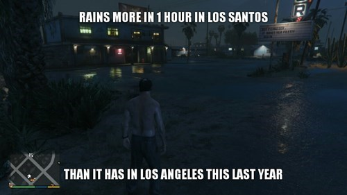 los angeles IRL GTA V rain - 8414155520