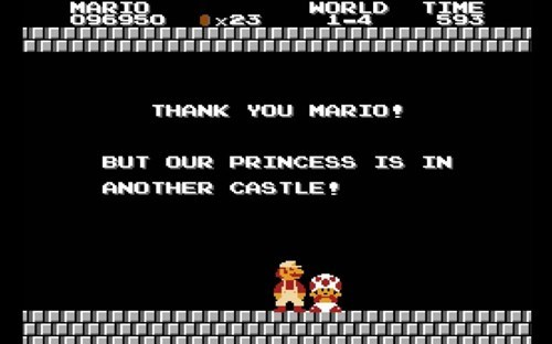our princess is in another castle,toad,Super Mario bros,mario,nintendo