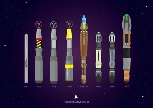 sonic screwdriver,history,infographic