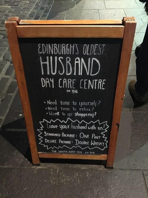 daycare beer sign whiskey edinburgh husband pub funny - 8414774016