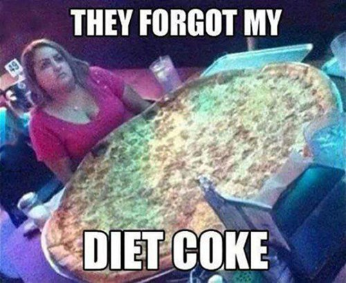 pizza,diet coke,obesity