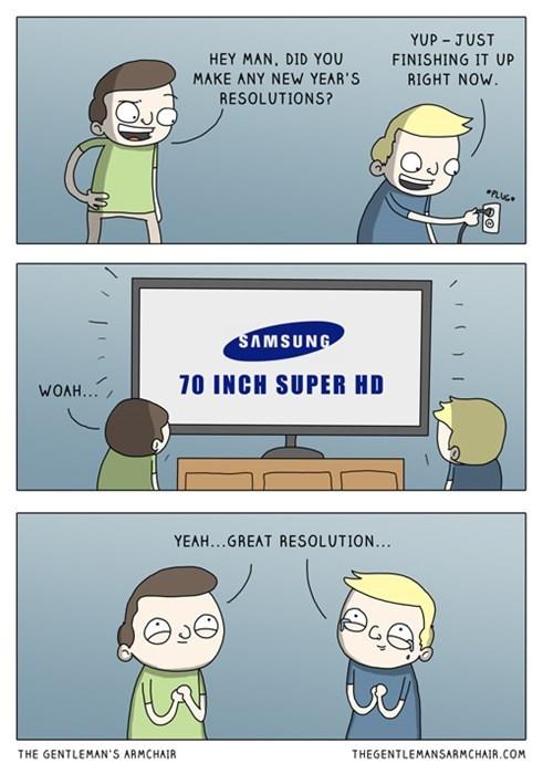 new years resolutions new years puns sad but true TV web comics - 8414805504