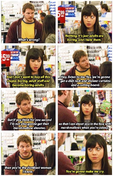 parks and recreation,aubrey plaza,relationships,funny