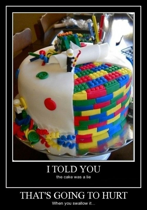 ouch,cake,lego,funny