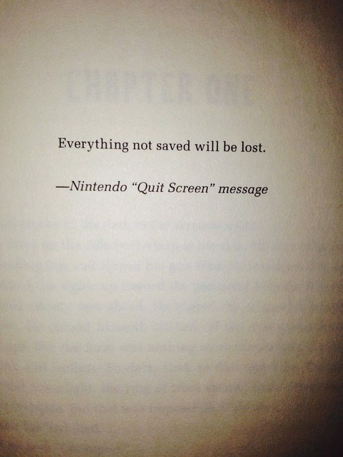 quotes quit screen books nintendo - 8415021824