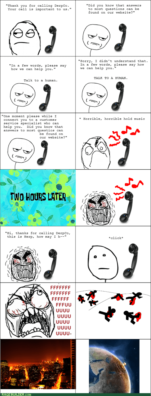 customer service,rage