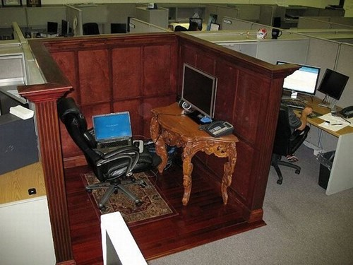monday thru friday,fancy,cubicle,g rated