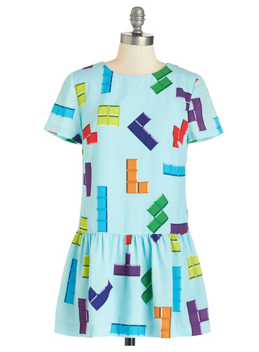 poorly dressed,dress,tetris